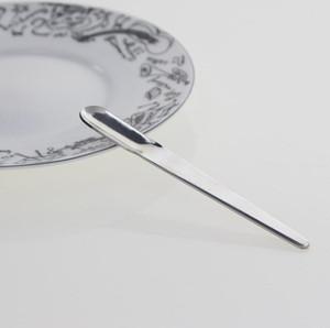 Largos de acero inoxidable mango recto revolviendo el café espresso cuchara Postre helado de la cucharada de mezcla cucharaditas de herramienta de la cocina SN4842
