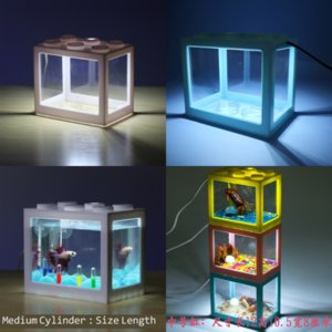 Wcrus aquarium المشهد الديكور ليغو كتل جذع الراتنج diftwood الأسماك خزان الأسماك ضوء tankundewater