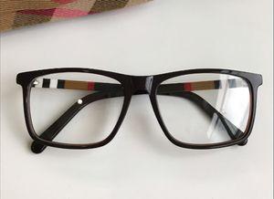 Newl Quality concise rectangular unisex glasses frame 54-17-140 plaid designer for prescription glasses pure-plank fullset case