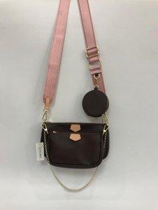 3 pieces set favorite multi accessories handbag purse genuine leather L flower shoulder crossbody bag ladies purse HDUN#