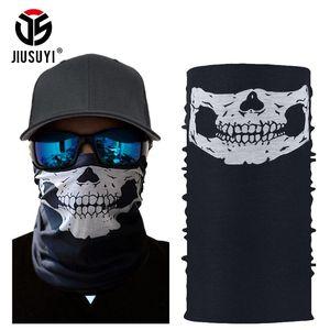 Ghost Scarf Neck Warmer Tube Half Face Mask Halloween Bandana Headband Army Tactical Paintball Neckerchief