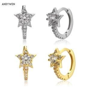 Andywen 925 Sterling Silver Circle Huggies 2020 Hoops 8.5mm Loop Piercing Luxury Joyas sólidas de alta calidad para mujeres