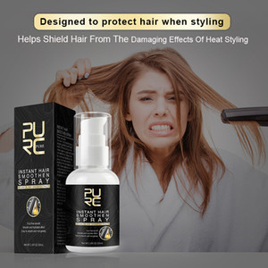 PURC Instant Hair Smoothen Spray Argan Oil and Ginger Extracts Easy to Absorb and Non-greasy Protect and Soft Hair Styling Tool 30pcs