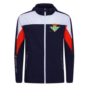 Бетис F.C взрослых Оптовая балахон куртка Мужская одежда Классический Soft Shell Jacket Ourdoor Теплый свитер Футбол Спортивная одежда