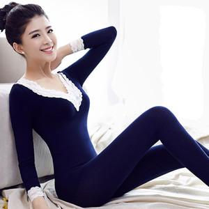 FOPLY pijama térmico gatos usados inverno mulheres termo térmico underwear conjuntos de roupas para casa