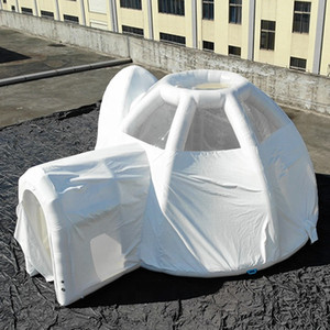 상업 쇼 또는 방에 대 한 밀폐 튜브 구조와 최신 돔 풍선 버블 호텔 텐트 화이트 캠핑 건물