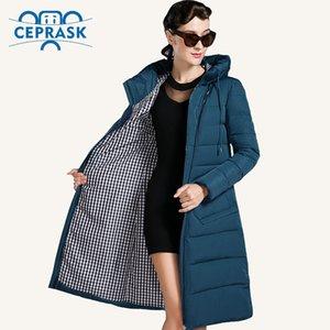 CEprask 2020 Nova Jaqueta de Inverno Mulheres Plus Size Longa Fashionable Women Winter Casaco com capuz de alta qualidade quente aquecer jaqueta Parka LJ201127