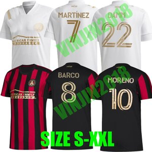 2020 2021 Atlanta Estados FC JERSEY DE FÚTBOL MORENO Robinson 20 21 MLS Martínez Castro BARCO Damm TORRES camisas del fútbol de los uniformes TOPS Tailandia