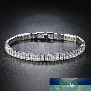 Nueva princesa de lujo 925 pulsera de plata esterlina brazalete para mujeres aniversario regalo joyería al por mayor Moonso S5776