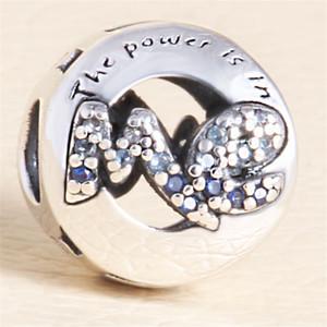 S925 Silver Lady Charm Bracelet en forme de cœur Bracelet en forme de cœur Bricolage Charm Accessoires Hollow Charm Zircon Rose Diamond Bijoux Perles