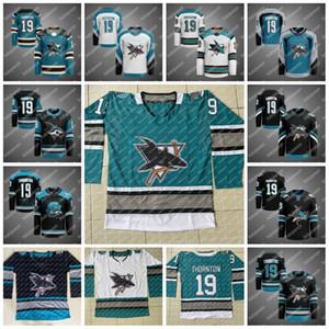 San Jose Sharks 30. yıl dönümü Isınma Formalar 12 Patrick Marleau Joe Thornton Brent Burns Erik Karlsson Logan Couture Evander Kane Jones