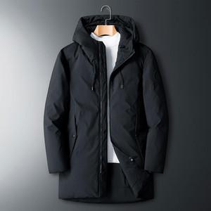 Men's Down & Parkas SHAN BAO 5XL 6XL 7XL 8XL Hooded Long Jacket Classic Brand Clothing Thick Warm Comfortable Casual Loose 90% Coat