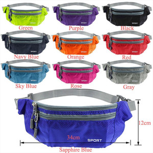 Nylon Waist Pack Men Women Multifunction Fanny Bags running Belt Bag Waterproof Chest Handbag Waist Packs Chest Phone Pouch