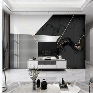 photo wall murals wallpaper Golden marble geometric wallpapers abstract modern minimalist light luxury background wall decoration painting
