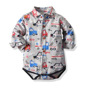 Cartoon car baby romper cotton bow tie gentleman newborn rompers boys romper toddler jumpsuit baby boy clothes Infant clothes 0-2Y