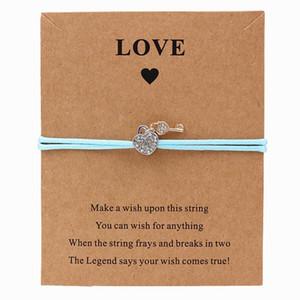 7 colori corda Love Lock fascino del braccialetto di perline gioielli a catena per monili regalo di compleanno sorella fidanzata mamma