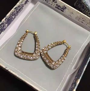 2021 New Designer Jewelry D Home / Dijia New Square Letra Pendientes de diamantes completos