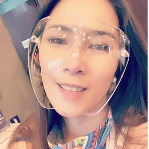 Cara burbuja de gran tamaño transparente gafas hombres mujeres moda seguridad gafas gradiente gafas de sol máscara escudo escudo sombras cara protectora