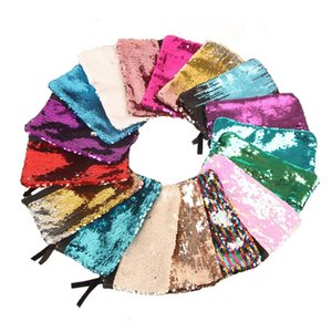Fashion Women Mermaid Makeup Glitter Reversible Magic Sequin Cosmetic Bags Lady Handbag Girls Pencil Bag