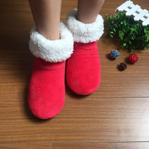 2020 New Winter Thickened Warm Coral Fleece Non-slip Soft Bottom Floor Boots Men and Women Indoor Plush Socks Cotton Shoes