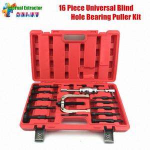 16pcs Innenauszieher Einbau Ausbau Kit Universal-Sackloch Bearing Puller Kit mit extra großen Spreizzangen pz3y #