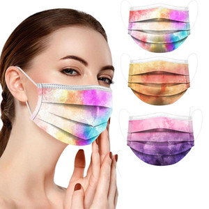 Starry sky Protective Masks for Adult Disposable Face Mask Anti-pollution Face Masks Starry Sky Print 3 Layers Face Cover BEF2542