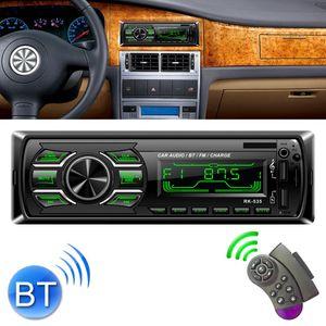 RK-535 Auto Stereo Radio MP3 Audio Lettore Audio con supporto telecomando Bluetooth Chiamata a mano FM USB Slot SD USB