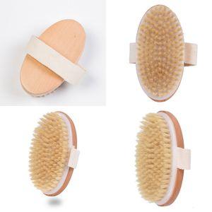 Ducha cerda suave del cepillo natural del masaje del baño de la familia Cuerpo de bricolaje de madera No Caña de la mano Cepillos G2 3 95ol