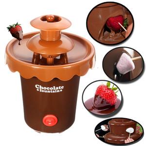 2 Tiers Mini fonduta di cioccolato Fontana Maker partito Cascata di fusione Macchina per Frutta Marshmallow torta di festa di nozze Cookie