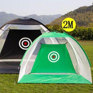2M Golf Practice Net Golf Hitting Cage Indoor Outdoor Garden Grassland Practice Tent Golf Training Home Sports Equipment XA147+A 250