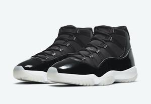 Otantik 11 Jubilee 25. Yıldönümü Hava Yüksek Siyah Temizle Beyaz Metalik Gümüş 11 S Erkek Basketbol Ayakkabı Spor Sneakers ile Kutusu US 7-13