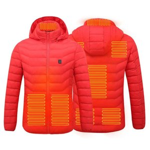 2020 New Heated Vest Down Cotton Mens Women Outdoor Coat USB Electric Heating Hooded Jackets Warm Winter Thermal Coat