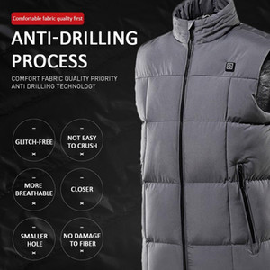 2020 Men waterproof heating jacket women vest jacket winter heating vest washable USB Smart Electric Heated for outdoor sport