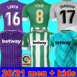 MAN + KIDS 20 (21) 레알 베티스 축구 유니폼 JOAQUIN 로렌 부데 부즈 BARTRA 홈 떨어져 3 훈련 정장 기념 에디션 Fekir 8 카날 레스