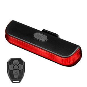Пульт дистанционного управления USB зарядка велосипедов Taillight Водонепроницаемая Выделите индикатор беспроводной Turn Night Signal езда Регулируемый свет велосипеда