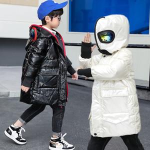 Ультрачеловек мальчиков вниз куртки, среднего и большого толщина замаскированного пальто, зимняя одежда, детские Супермен очков мыть бесплатно водонепроницаемые