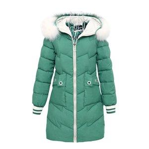 Women Autumn Winter Jacket Parkas New splice Hooded Medium Long Outerwear Slim Plus Size 3XL Female Down Cotton Jacket 201202