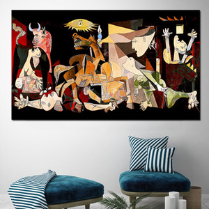 Spain France Picasso Guernica Vintage Classic Germany Figure Canvas Art Print Painting Poster Wall Pictures For Home Decoration