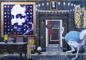 Angelo Accardi ВСЕГДА UPSIDE ВНИЗ Домашнее украшение расписанную HD Печать Картина маслом на холсте Wall Art Холст Pictures Декор стены 201003