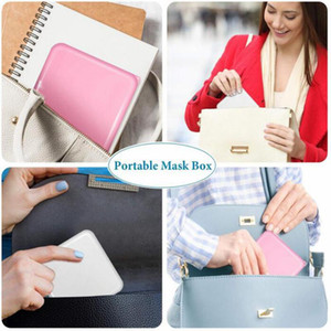 4 colors Portable Mask Storage Box Face mask Moisture Dust Proof Container Disposable Face Mouth Cover Holder Mask Storage Case HWA3461