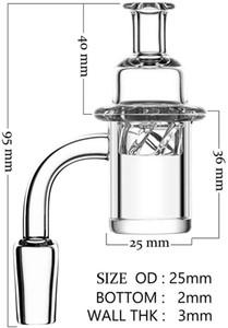 Pregos de quartzo Banger Dab com giro Ufo Carb Cap e brilho no escuro luminoso quartzo terp pérolas fêmea masculino feminino 10mm 14mm 18mm para vidro