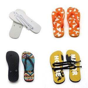 Sublimation Blank Flip Flops Flat Bottomed Rubber Slipper Women Men Home Furnishing Shoes Indoor Fashion Gifts 14ex N2
