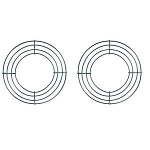 2 Stück Draht-Kranz-Rahmen Draht Kranz machen Ringe Grün für das neue Jahr Valentines Dekoration (8 Inch)