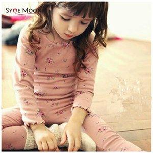 Syue Moon Girls Pajamas наборы детей милые цветы Pajamas детей 100% хлопок пижамы ребёнок домашняя одежда ночная одежда LJ201016