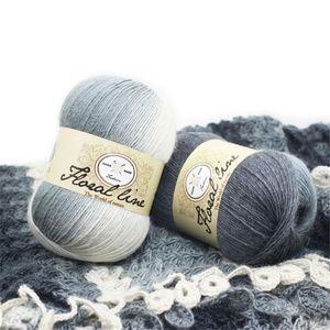 3pcs X100g Fine Rainbow Line Yarn for Knitting 100% Cashmere Wool Yarn Crochet Melange High Tenacity Knitting Needle 12 T200601