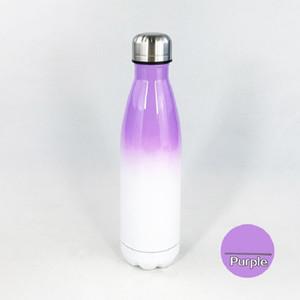 حرارة التسامي 17oz كولا زجاجة مع التدرج اللون 500ML الفولاذ المقاوم للصدأ كولا على شكل زجاجات المياه مزدوجة الجدران فراغ قوارير FWD2291