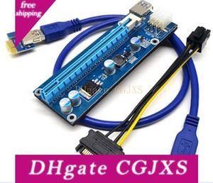 PCIe PCI -E PCI Express carta della colonna montante 1x a 16x USB 3 .0 cavo di dati SATA a 4 pin Ide Molex Alimentazione Per Btc Bitcoin litecoin Miner macchina