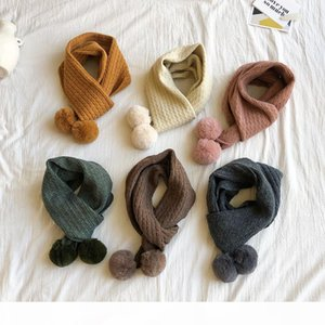 Wholesale-2019 designer scarf twist knit irregular ladies shawl warm wool ball shawl wrap sweaters