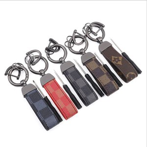Keychain Leather Five Colors Car Keychains Unisex Fashion Accessories Bag Pendant Lanyards Horseshoe Buckle Vintage Wholesale