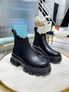 2021 fashion high quality women shoes Martin boots ladies patent leather ankle boots high top cloud dress boots black rubber soles